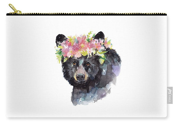 Carry-All Pouch - Mama Bear painting by Virginia Beach Artist Stephie Jones