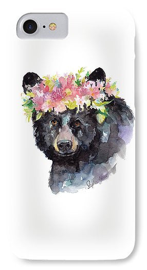 Phone Case - Mama Bear painting by Virginia Beach Artist Stephie Jones