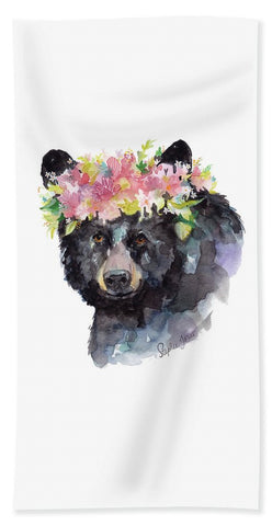Beach Towel - Mama Bear painting by Virginia Beach Artist Stephie Jones