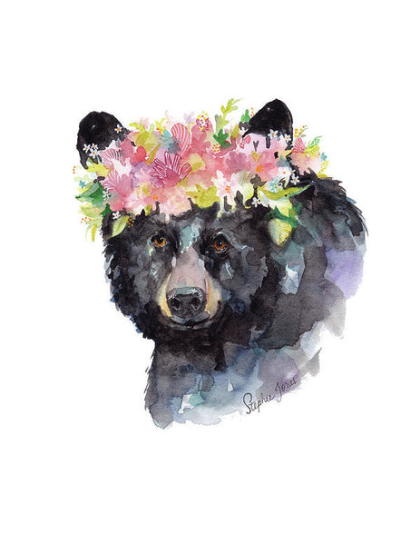 Mama Bear, Print painting by Virginia Beach Artist Stephie Jones