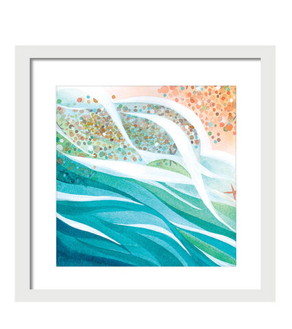 Pebble Dance, Print painting by Virginia Beach Artist Stephie Jones