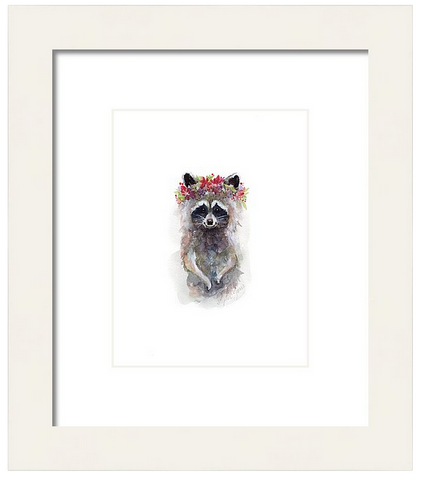 Rocky Raccoon, Print painting by Virginia Beach Artist Stephie Jones