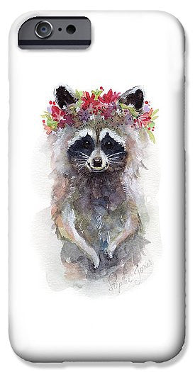 Phone Case - Rocky Raccoon painting by Virginia Beach Artist Stephie Jones