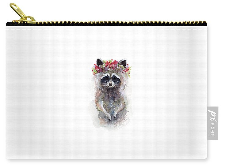 Carry-All Pouch - Rocky Raccoon painting by Virginia Beach Artist Stephie Jones