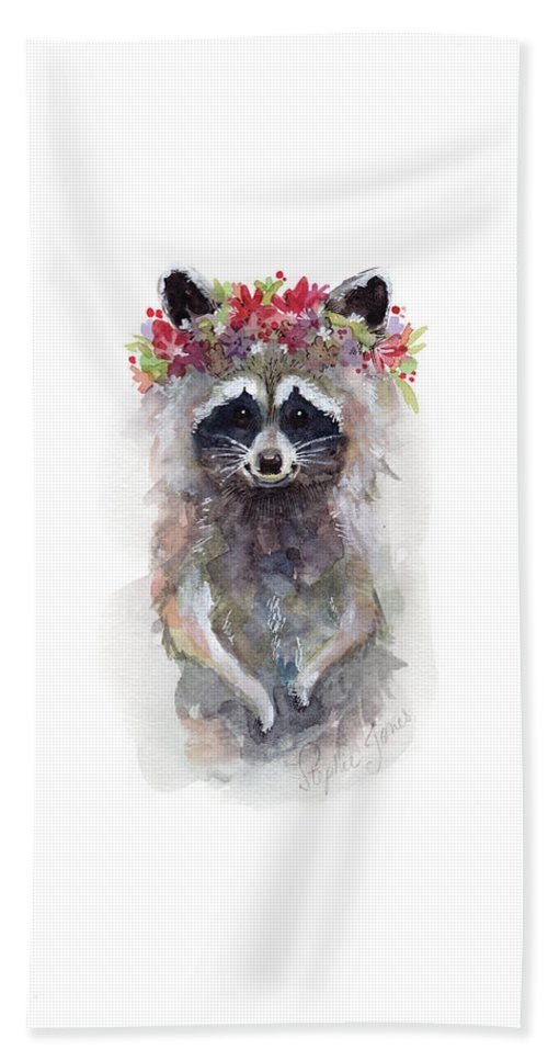 Beach Towel - Rocky Raccoon