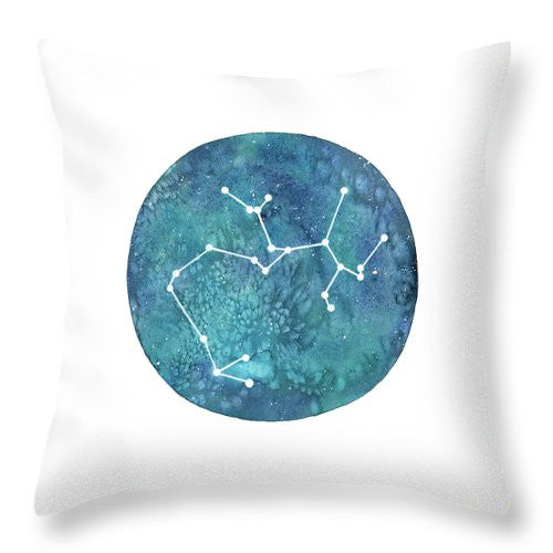Throw Pillow - Sagittarius painting by Virginia Beach Artist Stephie Jones