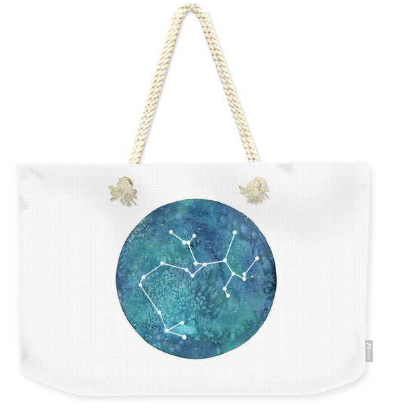 Weekender Tote Bag - Sagittarius painting by Virginia Beach Artist Stephie Jones