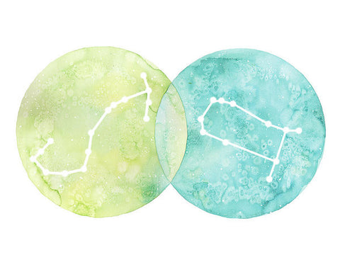 Art Print - Scorpio And Gemini