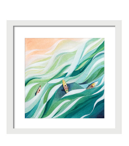 The Swell, Print painting by Virginia Beach Artist Stephie Jones