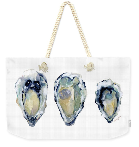 Three If By Sea - Weekender Tote Bag painting by Virginia Beach Artist Stephie Jones