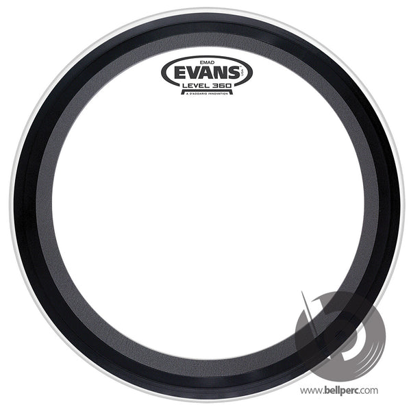 "Evans 18"" EMAD Clear Bass Batter"