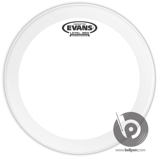 "Evans 20"" EQ3 Frosted Bass Batter"