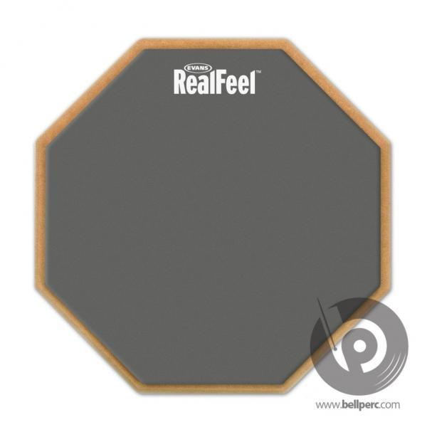 "Evans 12"" Real Feel 1-sided Practice Pad"