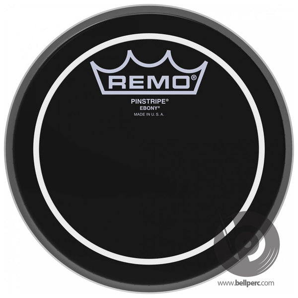 "Remo 6"" Ebony Pinstripe Drum Head"