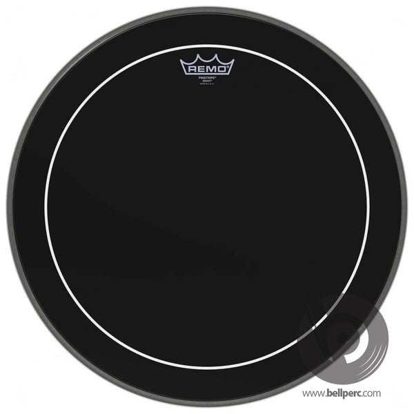 "Remo 16"" Ebony Pinstripe Drum Head"