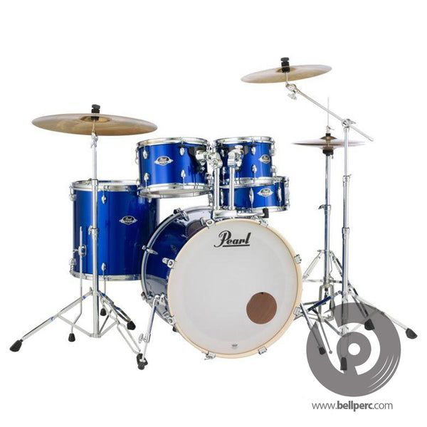Pearl Export 10/12/14/22/14 Fusion Kit with Hardware and Cymbals - High Voltage Blue