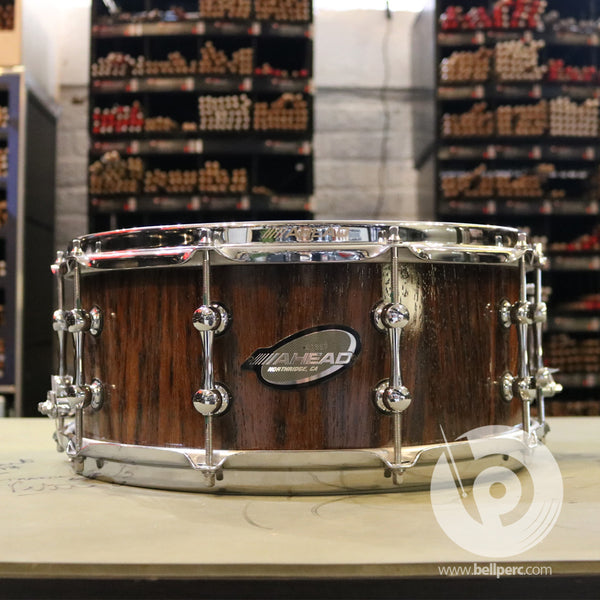 "Bell Music 14"" x 6"" Single Ply African Wenge Snare Drum"