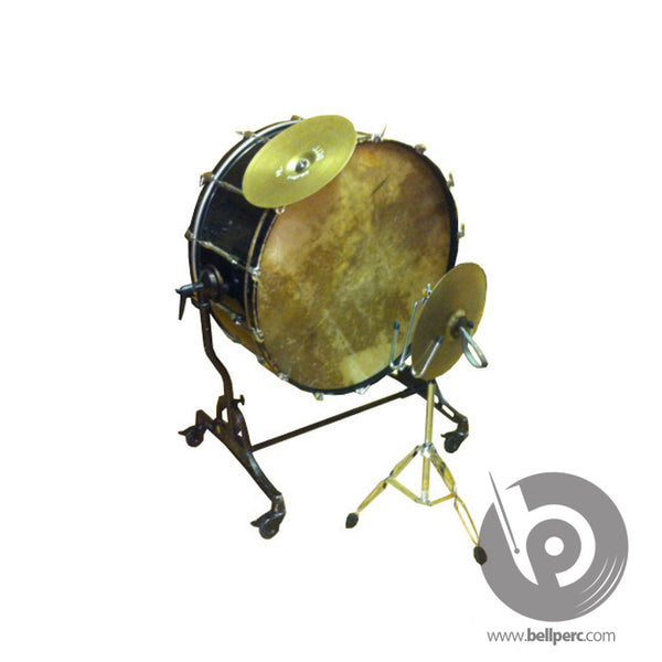 bellperc Bass Drum with Clash Cymbal Attachment - bellperc.com