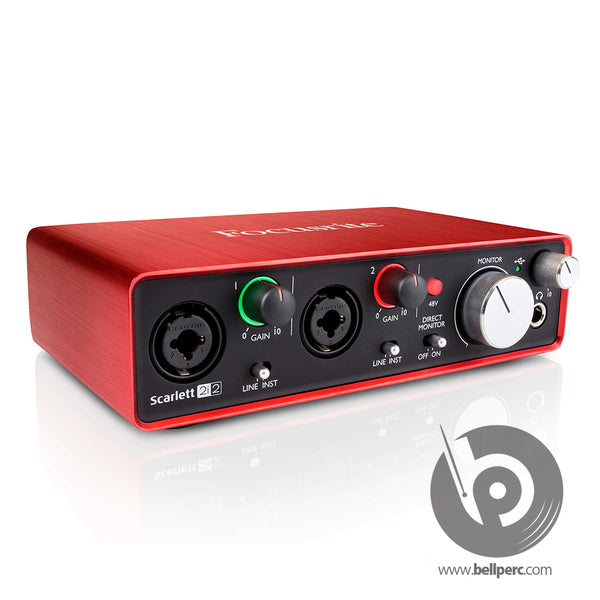 Bell Music Focusrite Scarlett 2i2 Audio Interface for Hire