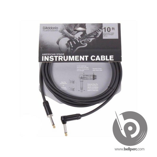 "10 Mono 1/4"" Cable right angle"
