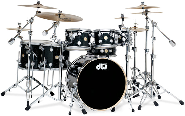 DW Collector's Series Maple Drum Kit in Black Ice