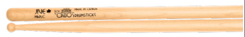 Los Cabos Jive White Maple Wood Tip Drumsticks