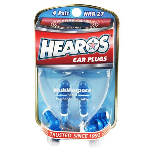 Hearos Earplugs (2 Pairs) with Case