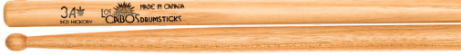 Los Cabos 3A Red Hickory Wood Tip Drumsticks
