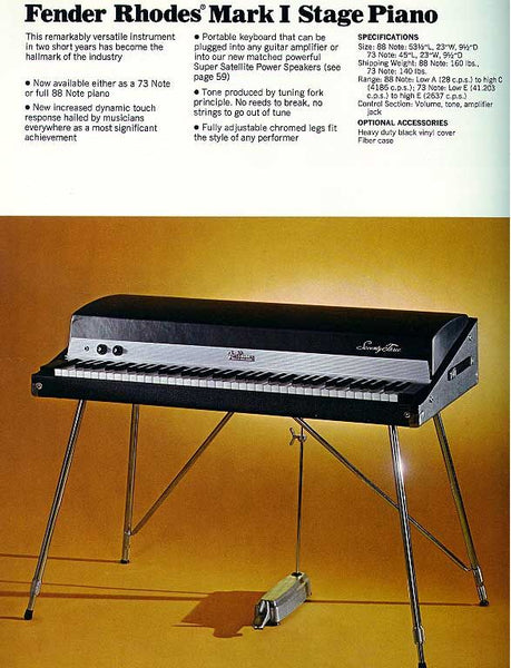 Bell Music Fender Rhodes Stage Mark I 73 Keyboard to Hire