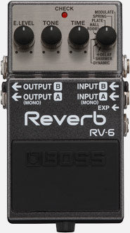 Bell Music Boss RV6 Reverb Guitar Pedal to Hire