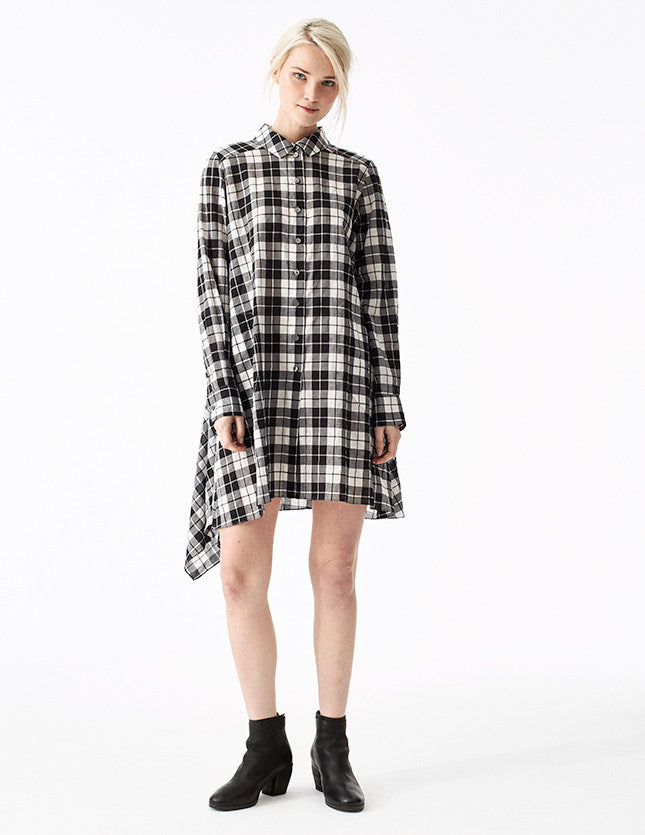 taylor cotton plaid long full button-down