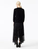oslo black cashmere classic sweater with delicate drop stitch detail