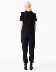 morgane le fay heliotrope perfect fitted silk pant