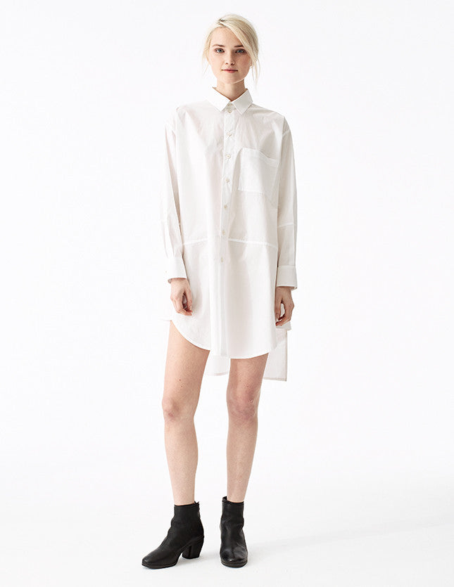 socrates white cotton unisex front button-down with a modern fit
