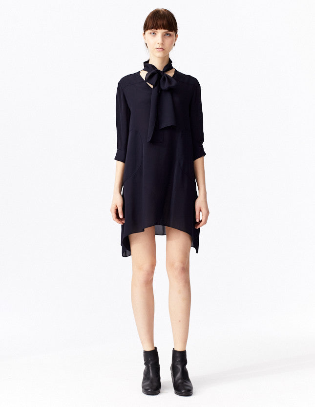 morgane le fay tunic with tie at neck.