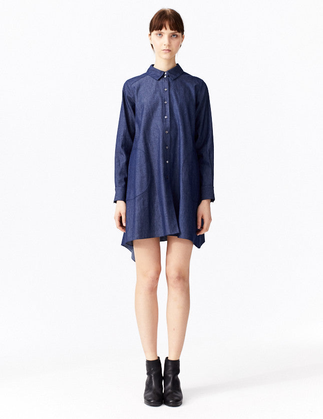 ettiene denim shirt dress