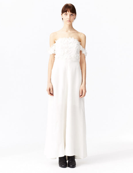 front view ivory nucifera gown