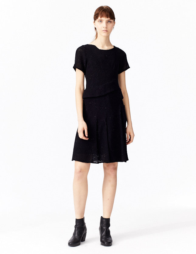 morgane le fay black sequined dress