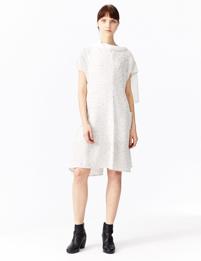 morgane le fay short, a-line dress with sequins