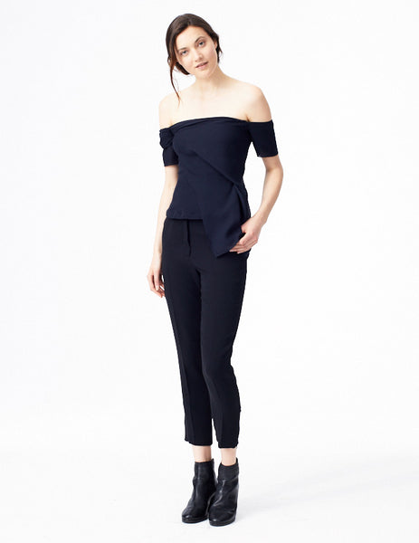 morgane le fay off-the-shoulder corset top. made in new york.
