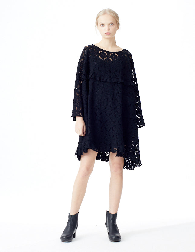 sheer cotton lace dress