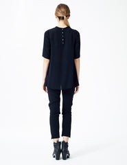 morgane le fay silk blouse with half-length sleeves