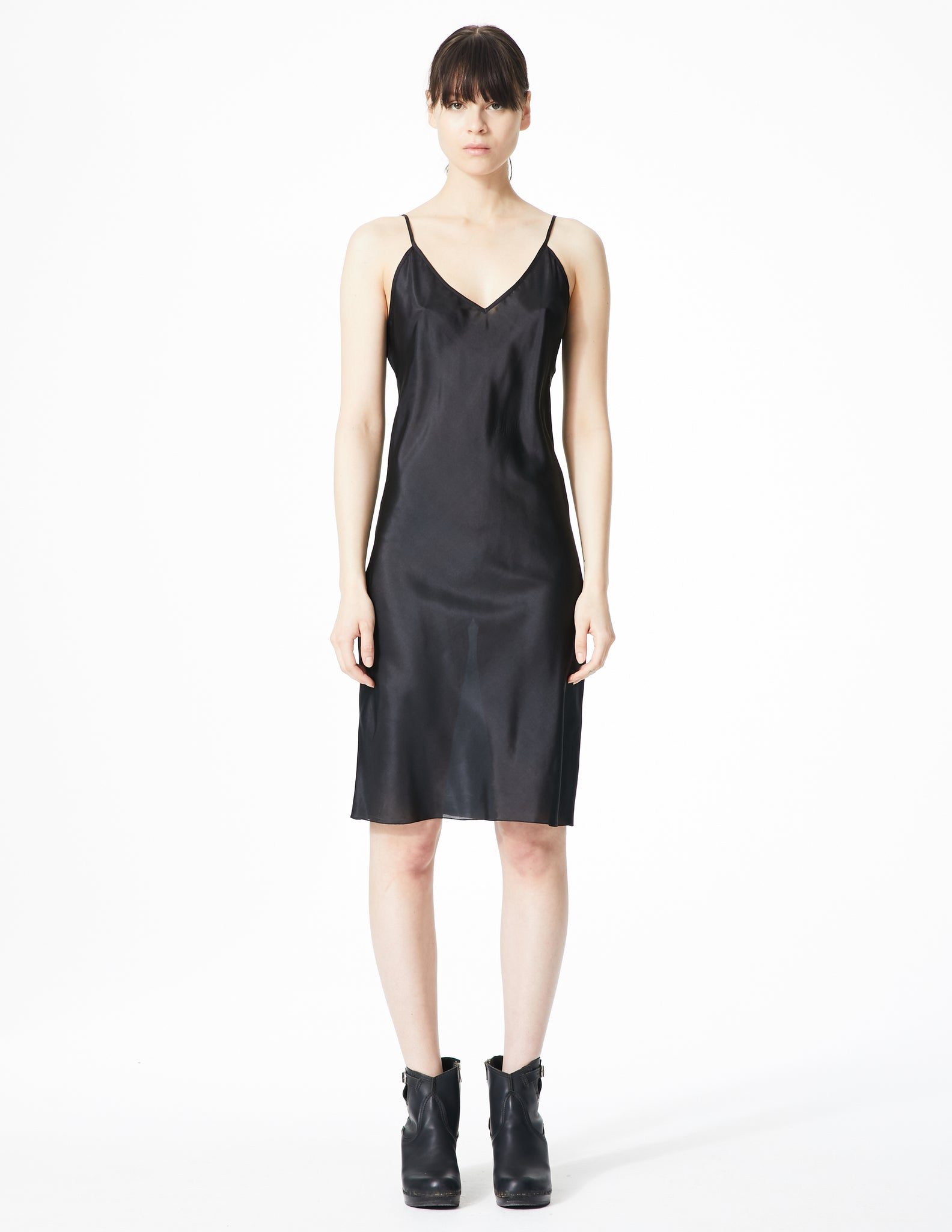 morgane le fay v-neck dress slip with thin straps.