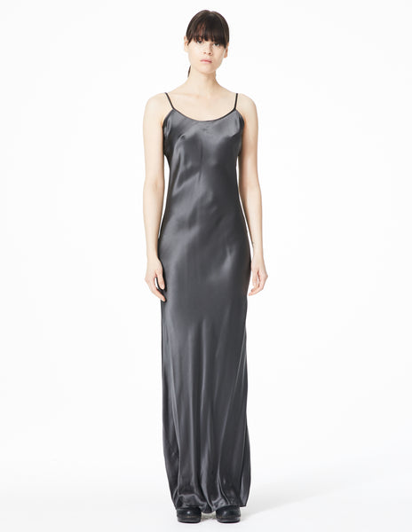 morgane le fay long dress slip with thin straps.