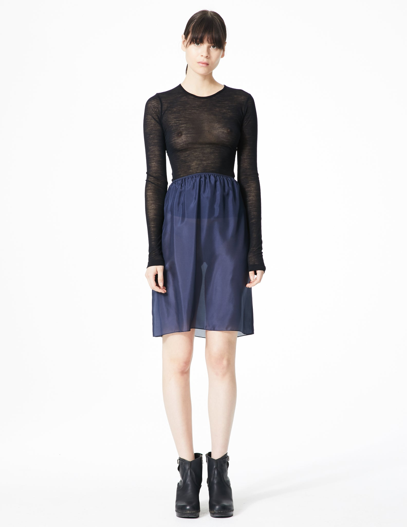 morgane le fay short silk half slip dress.