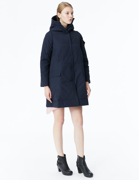 morgane le fay puffy a-line raincoat with hood