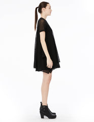 dress with cotton jersey top and rectangular cotton tulle skirt