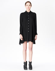 morgane le fay silk button-down shirt