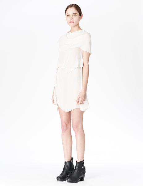 morgane le fay white silk tunic