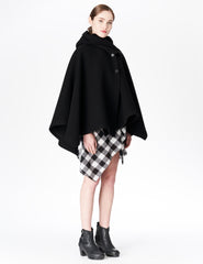 morgane le fay black wool coat